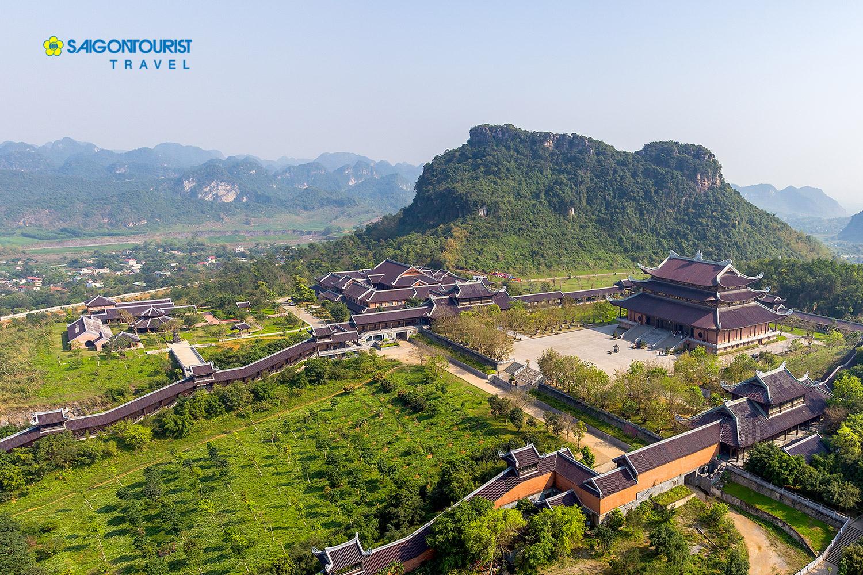 Quần thể chùa Bái Đính nhìn từ trên cao( ảnh sưu tầm).